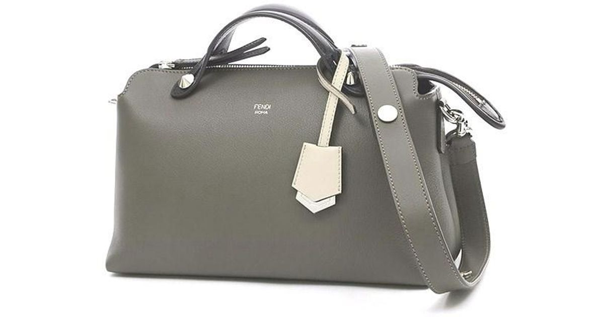 Lyst - Fendi Visorway 2 Way Bag Leather Multi Color 8 Bl124 in Gray 34a0d3142932d