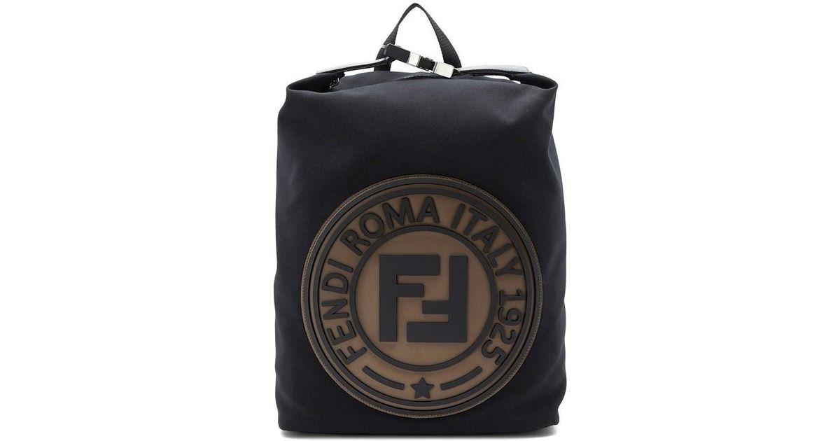 58c062579bf5 Lyst - Fendi Canvas Backpack in Black for Men