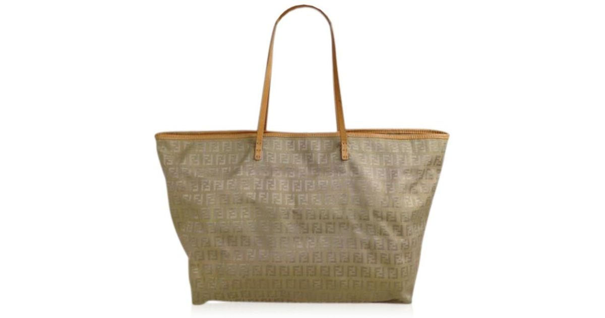 e000480914 Lyst - Fendi Zucca Pattern Logos Shoulder Bag Brown Canvas 5d131380  in  Brown