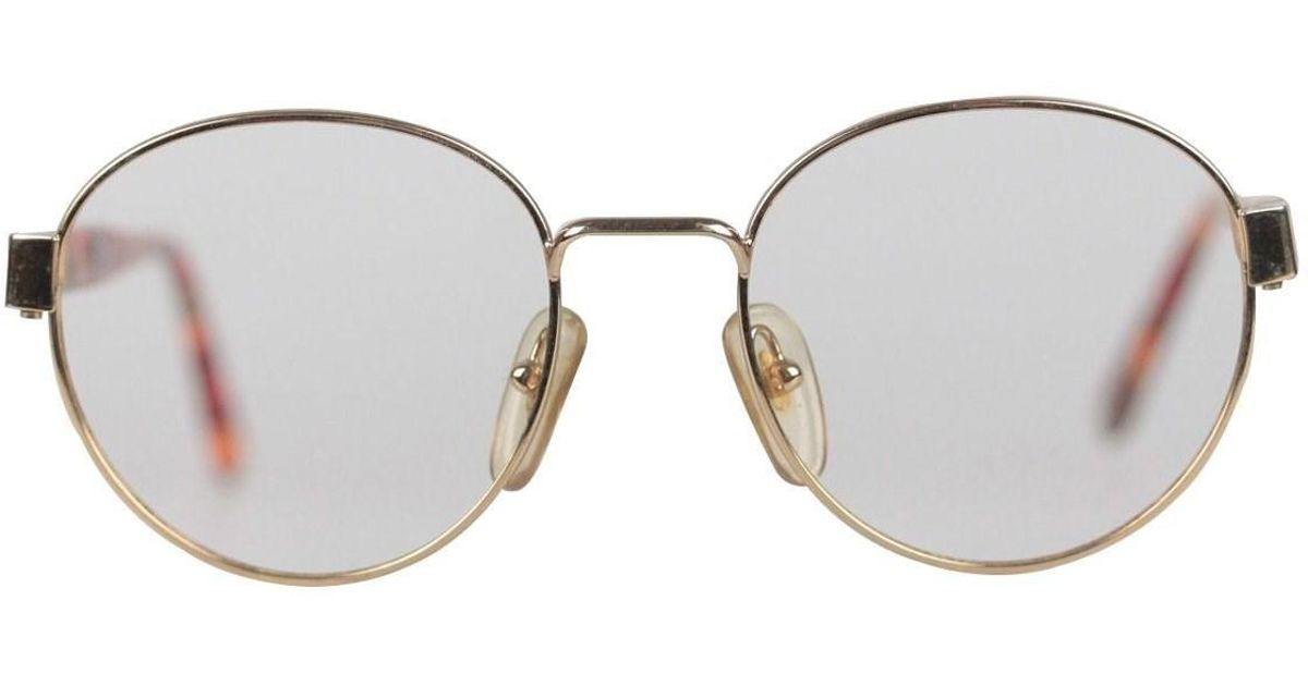 52ed9f9132 Moschino By Persol Vintage Gold Metal Round Frame Eyeglasses M09 50-18 140  for Men - Lyst