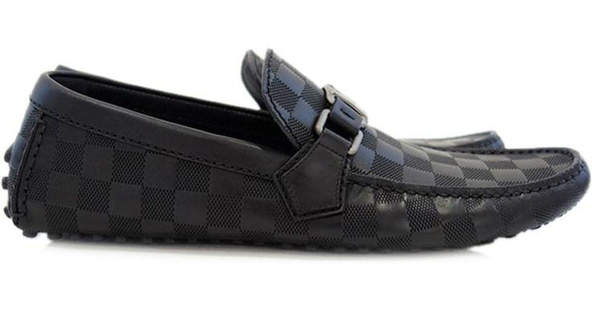 2712b125eda Louis Vuitton Black Damier Infini Hockenheim Men's Shoes Loafer Driving  Shoes Size 7 for men