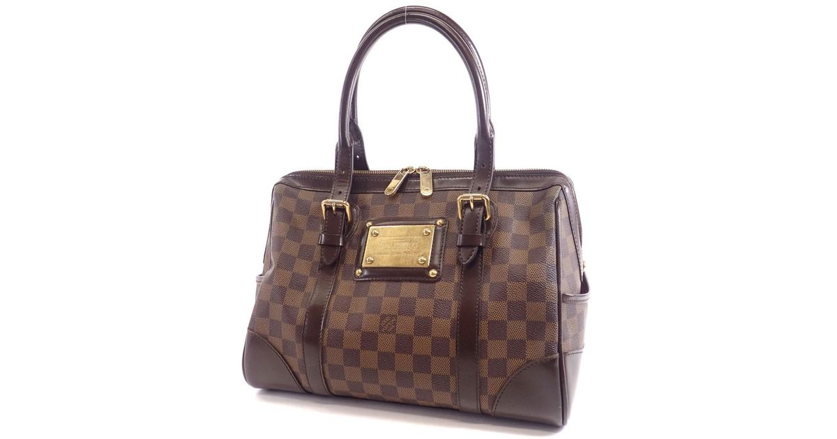 bc5ad8eaf7e0 Lyst - Louis Vuitton Damier Canvas Handbag N52000 Berkeley in Brown