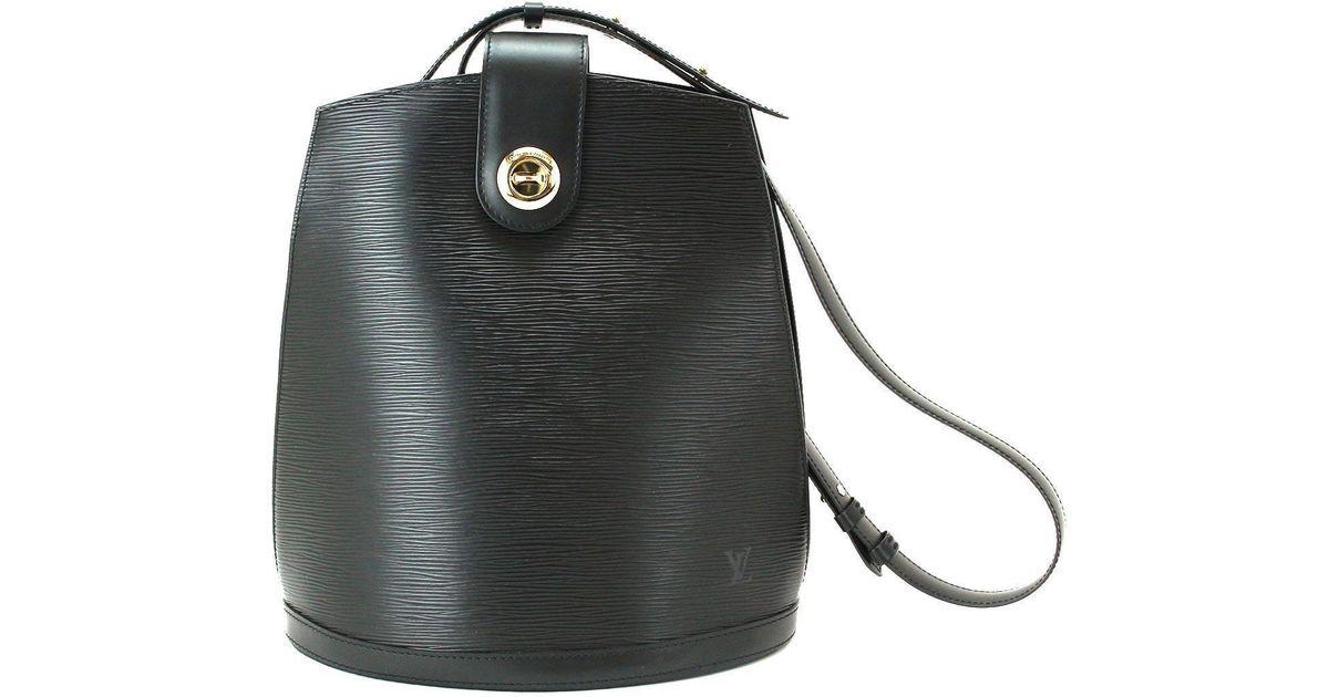 6bd32885bed0 Lyst - Louis Vuitton Cluny Shoulder Bag Noir Epi Leather M52252 Vintage  90042534.. in Black