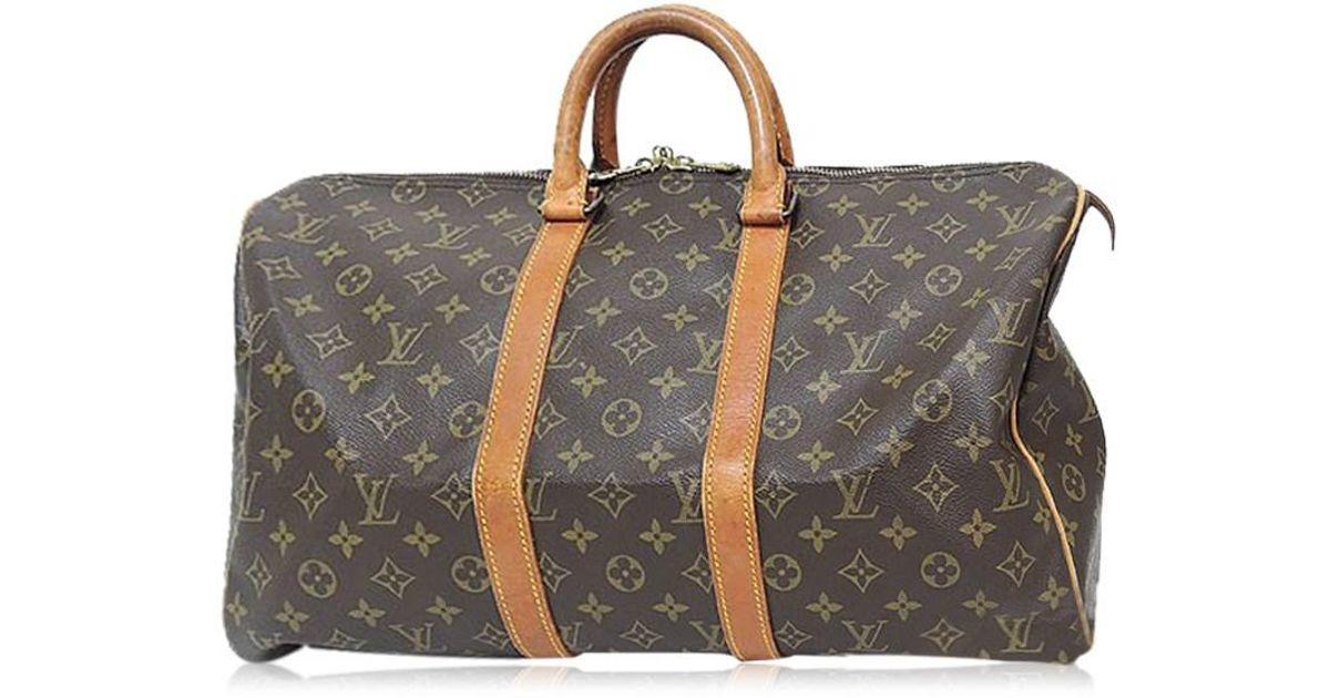 12bafbaa52b9 Lyst - Louis Vuitton M41428 Monogram Canvas X Nume Leather Boston Bag in  Brown for Men