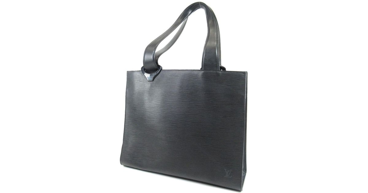 ad62fac1ed1e Lyst Louis Vuitton Epi Leather Tote Bag M52452 Gemo In Black