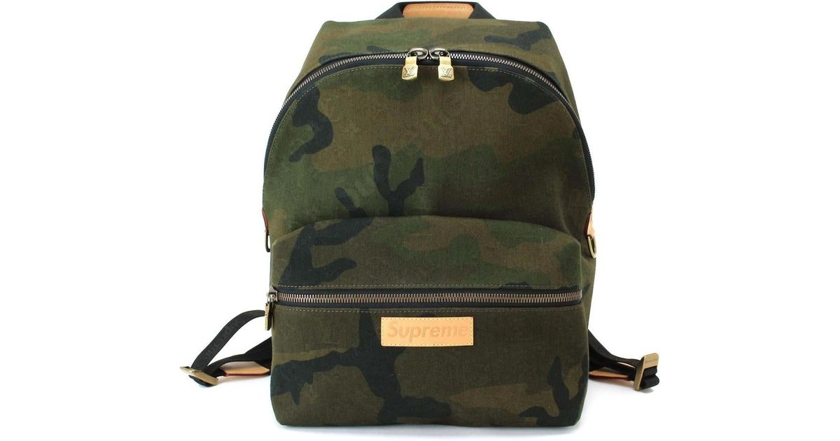 6a44771a8e9c Lyst - Louis Vuitton Supreme Apollo Back Pack Canvas Camouflage M44200  90036693.. in Green