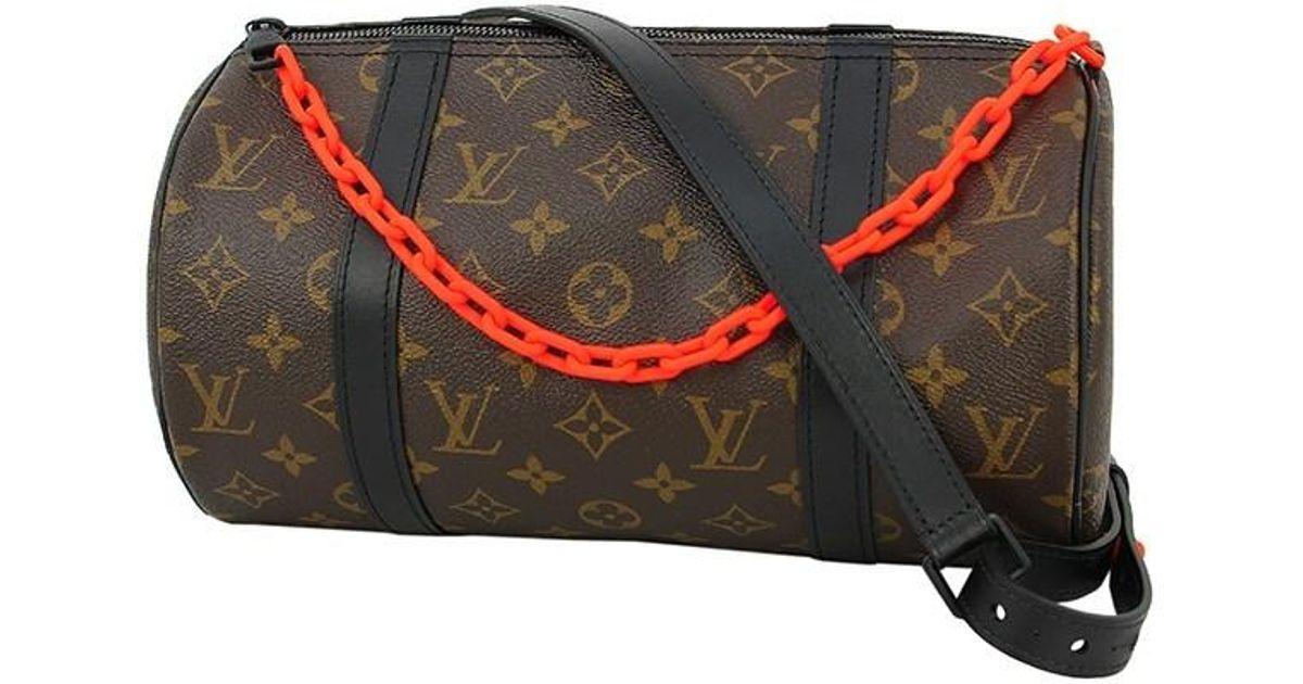 a252176281e Louis Vuitton Black Virgil Abloh Papillon Messenger Shoulder Bag Monogram  Brown Orange [new]