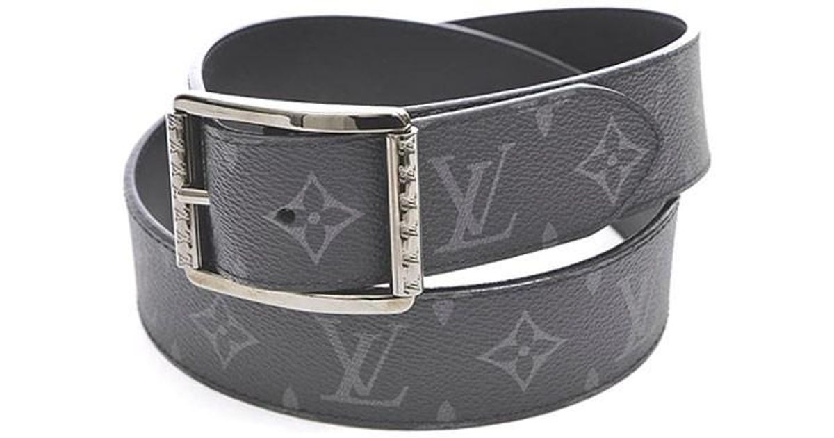 c82d130f8d607 Lyst - Louis Vuitton Monogram Eclipse Saint-cul Riverso Belt 90 36 M9044 in  Black for Men