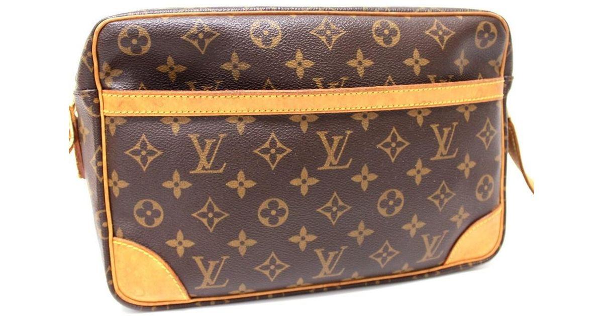 b8bb6ead6c78 Lyst - Louis Vuitton Monogram Trocadero 30 Crossbody Men s Women s Shoulder  Bag Monogramcanvas M51272 in Brown