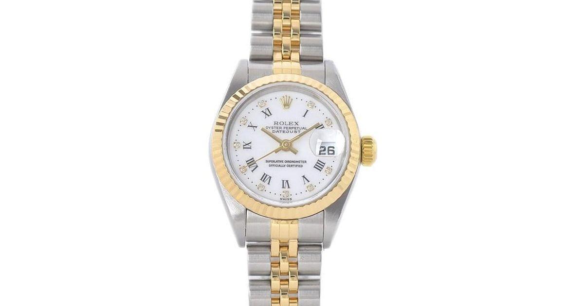 the latest f2d97 e94cd Rolex Datejust 79173g Ladies Combi White Rome 10p Diamond P Number
