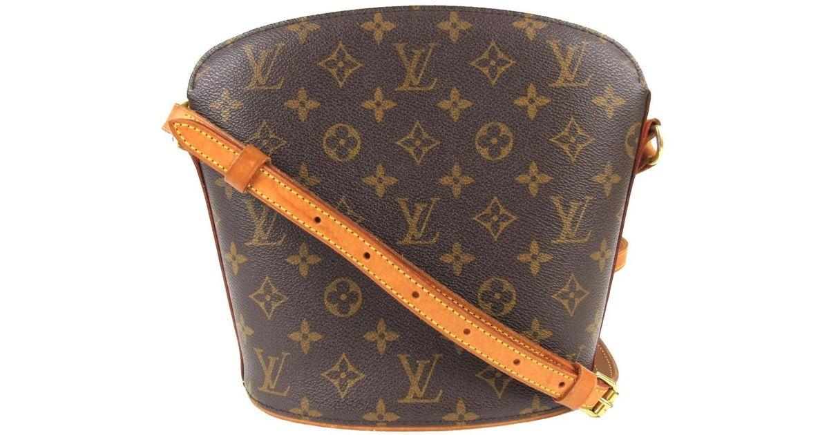 3b576427910a Lyst - Louis Vuitton Drouot Shoulder Bag Monogram Canvas M51290 in Brown