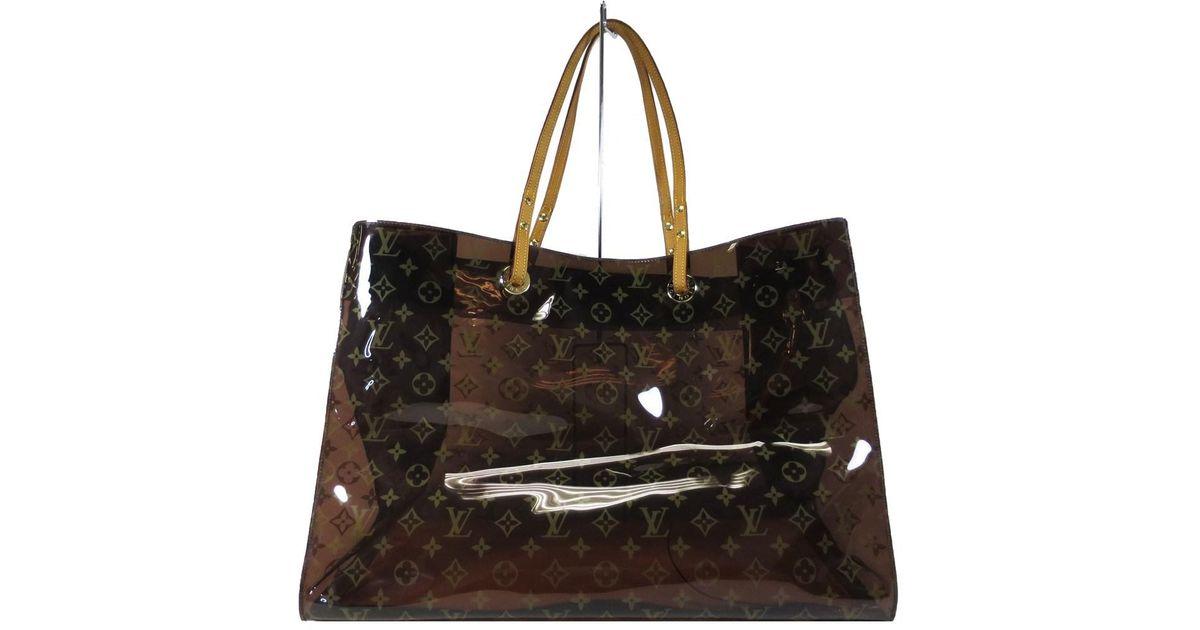 a5703212c942 Louis Vuitton Monogram Vinyl Cabas Cruise Tote Bag M50500 in Brown - Lyst