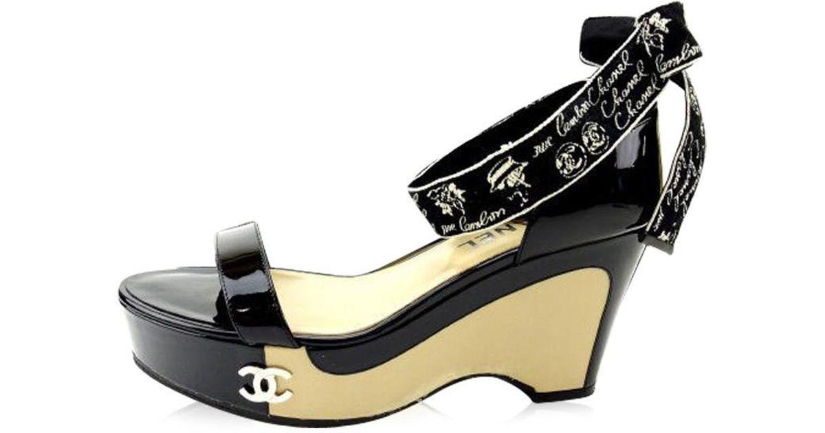 2d85ddaf83c0 Lyst - Chanel Sandals Coco Marco Womens Used Y1270 in Black