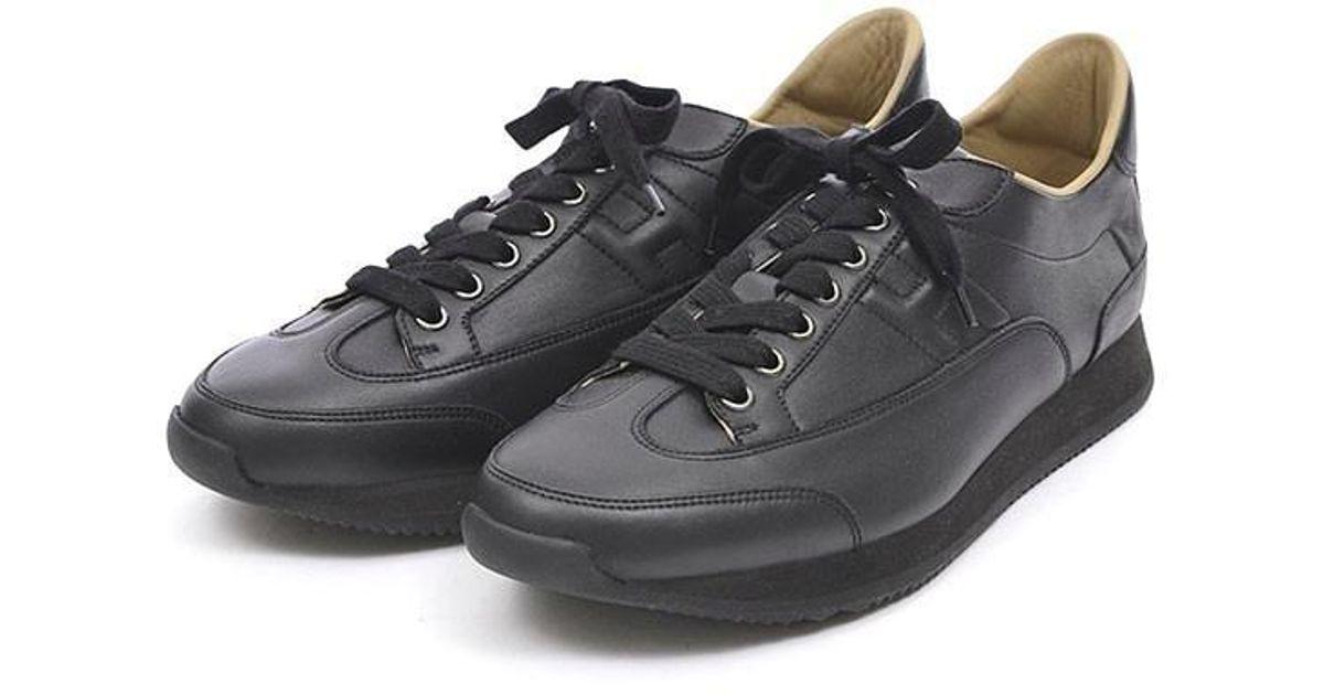 Hermès Goal Sneakers Leather Black Men