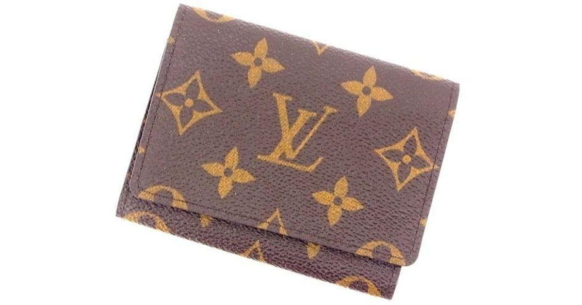 Lyst louis vuitton business card holder monogram unisexused y212 lyst louis vuitton business card holder monogram unisexused y212 in brown for men colourmoves
