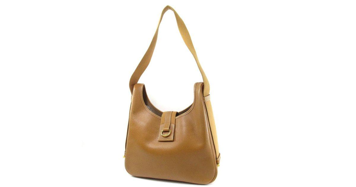 d0fa982c6eb0 Lyst - Hermès Courchevel Shoulder Bag Sako in Brown