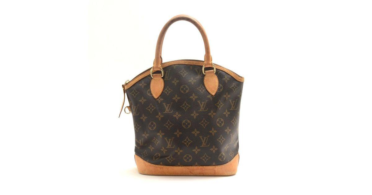 c0f75c7aaf9f Lyst - Louis Vuitton Monogram Canvas Lockit Handbag M 40102 in Brown