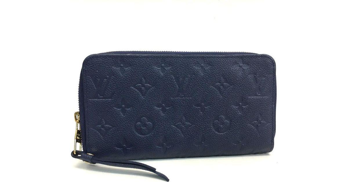 3b7372fed27 Lyst Louis Vuitton Empreinte Portefeuille Scrileton Long Wallet