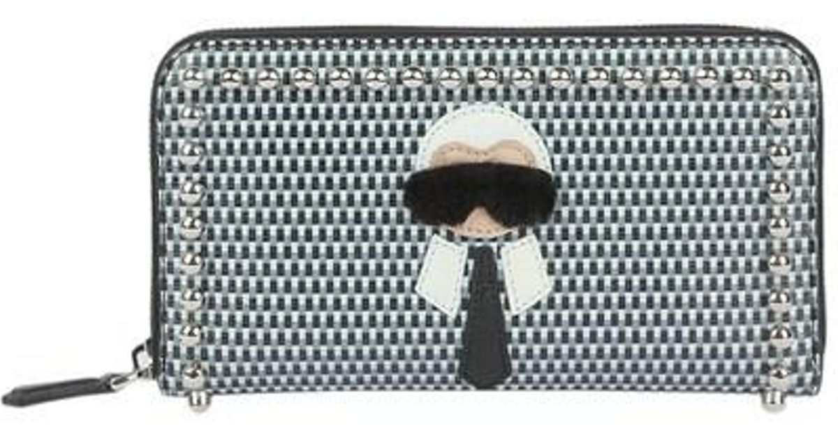 e3ffa8438418 Lyst - Fendi Karlito Long Zip Around Wallet