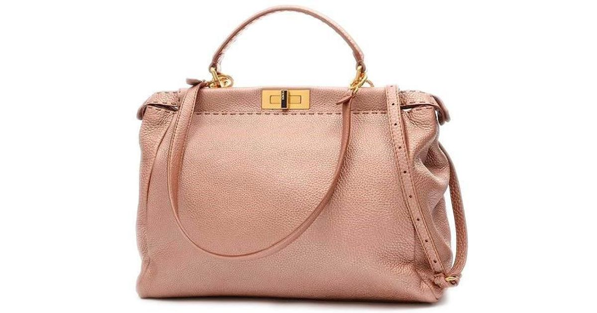 ea3b7549572c ... spain lyst fendi cereia pekaboo large 2 way bag roman leather boi  douroes 8 bn 210