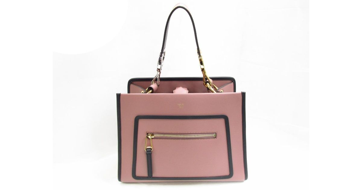 a17ea91f9a14 Lyst - Fendi Runaway 2way Hand Shoulder Bag 8bh344 Leather Calf English  Rose Pink in Pink