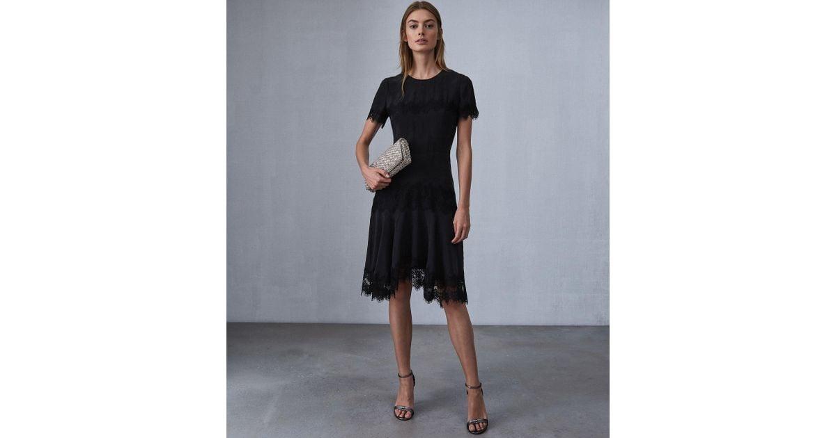 Trim In Save 51 Lace Dress Kelis Lyst Reiss Black UEqw1np