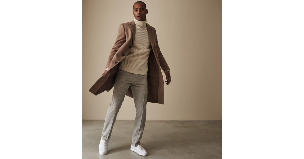 f589b9d87b0459 Reiss Ranger - Flannel Trousers in Gray for Men - Lyst