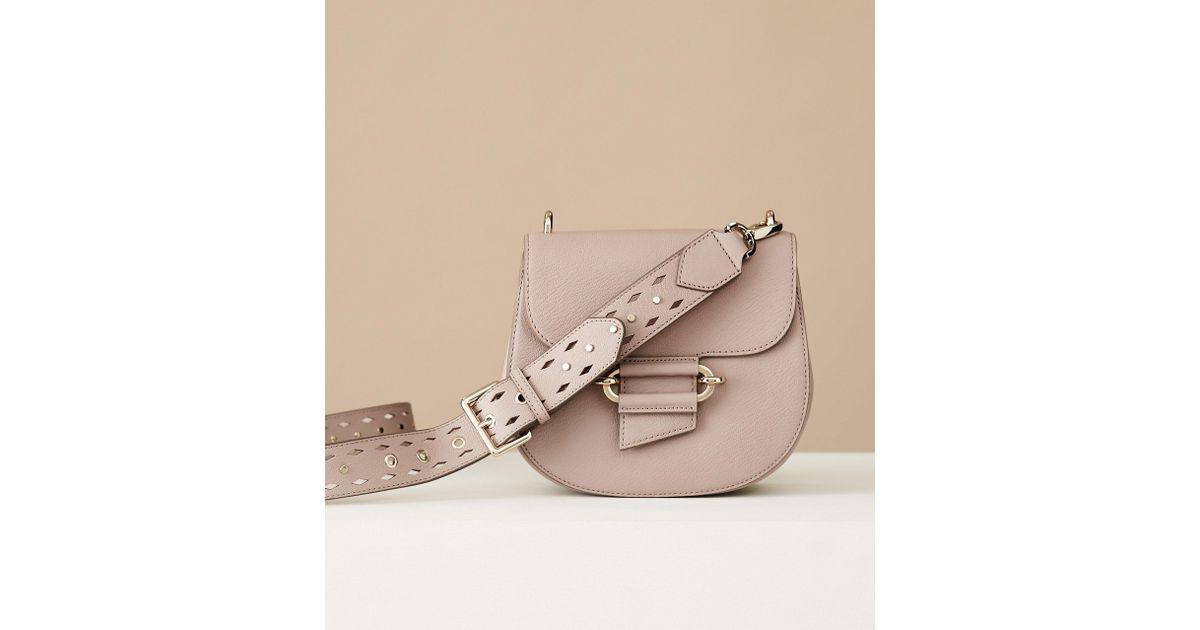 d6c7cbe326b6 Lyst - Reiss Maltby - Leather Cross-body Bag