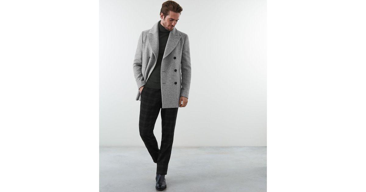Conffetti Womens Wool Blend Vogue Lapel Belted Outerwear Split Pea Coat