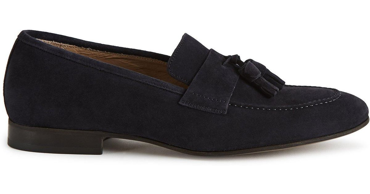 4dc3e192db5 Lyst - Reiss Thorpe - Suede Tassel Loafers in Blue for Men