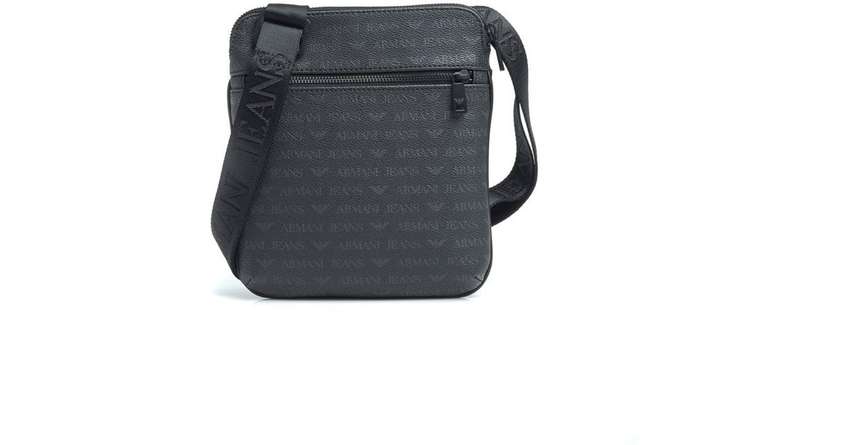 66042036b4 Lyst - Armani Jeans Black Tonal Repeat Logo Stash Shoulder Bag in Black for  Men