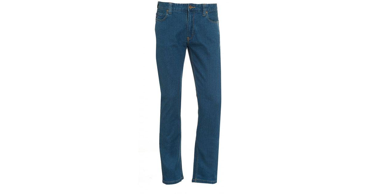 lyst armani jeans indigo blue yellow stitched denim in blue for men