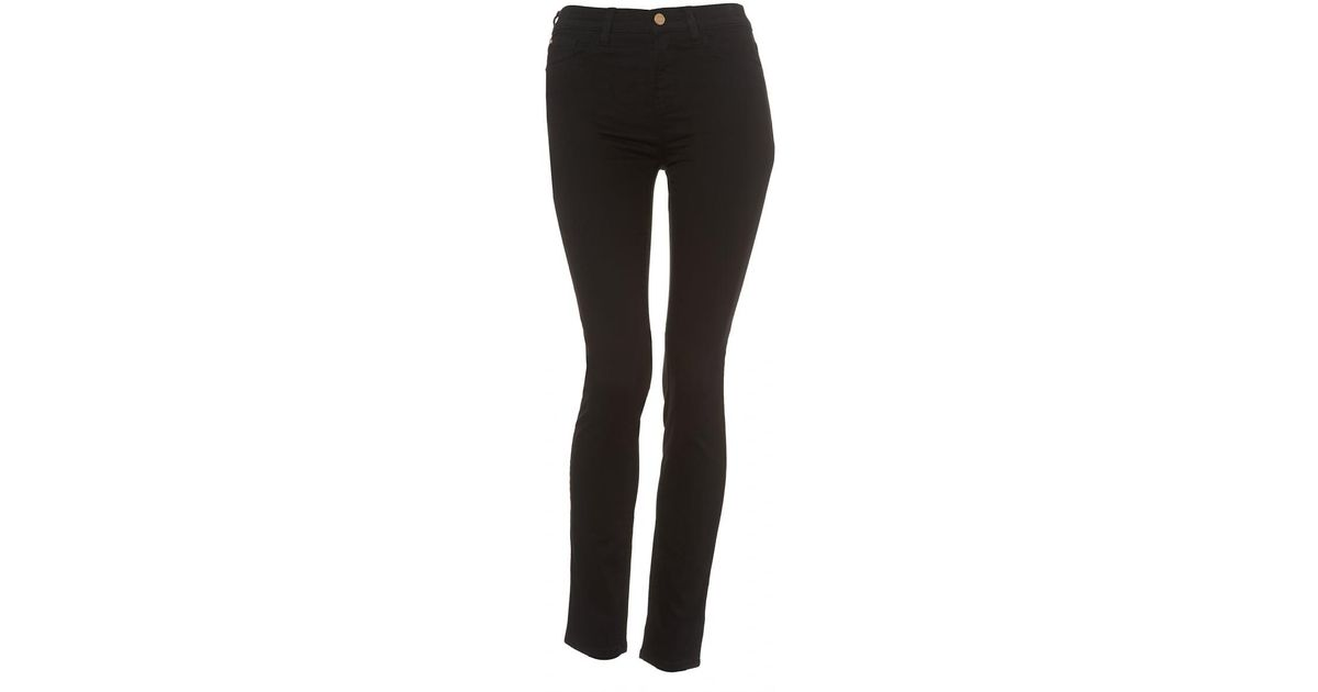 826c3fcc7e Armani Jeans J20 Black Super Stretch Skinny High Rise Jeans