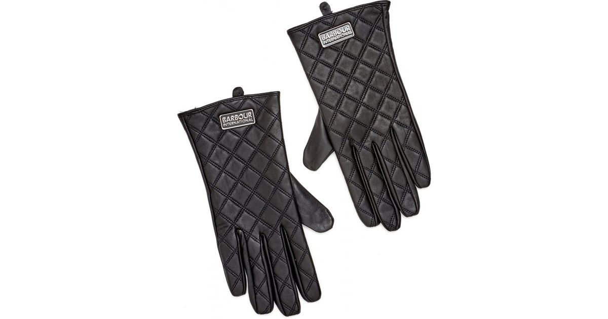 Lyst - Barbour International Burton Tourer Quilted Leather Gloves ... : barbour quilted gloves - Adamdwight.com