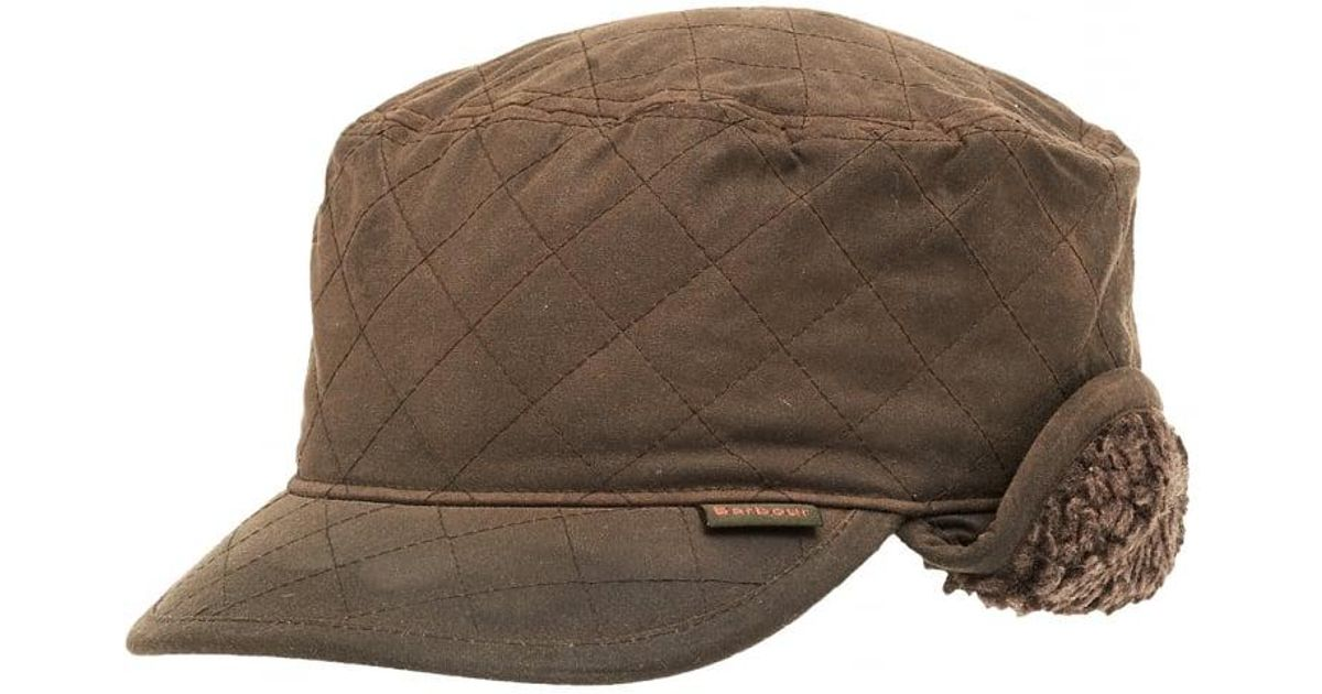 Barbour Lifestyle Stanhope Wax Trapper Olive Green Hat in Green for Men -  Lyst 5be17cf91042