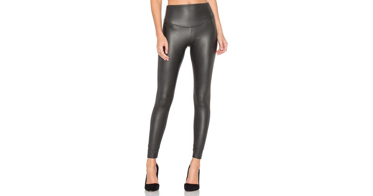 1208cf4397fd18 Yummie Tony Faux Leather Legging in Black - Lyst