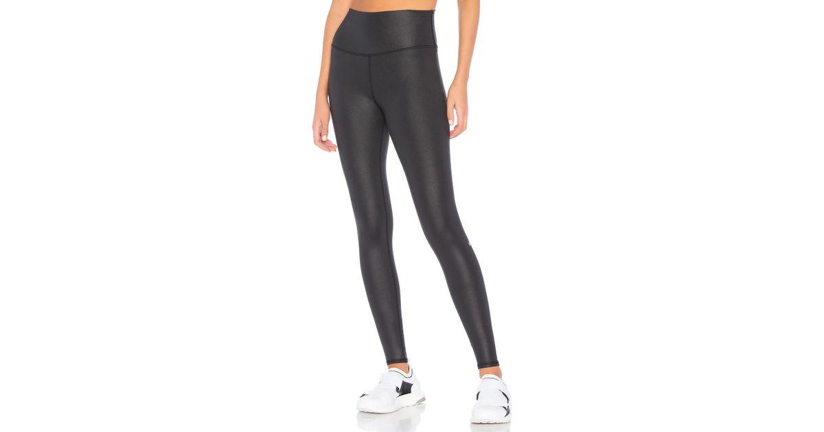 dbc949dd7e Alo Yoga High Waist Airbrush Legging In Black in Black - Lyst