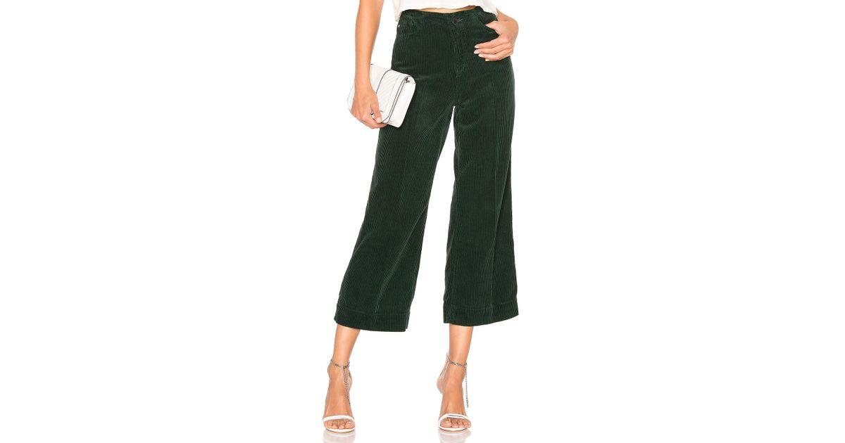 0001fa1802 AG Jeans Etta Corduroy Pants In Dark Green in Green - Lyst
