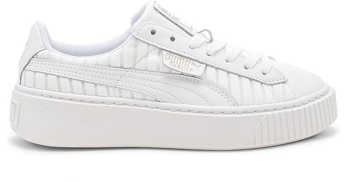 grande vente 1501e e6b23 PUMA White Basket Platform Ep Sneaker