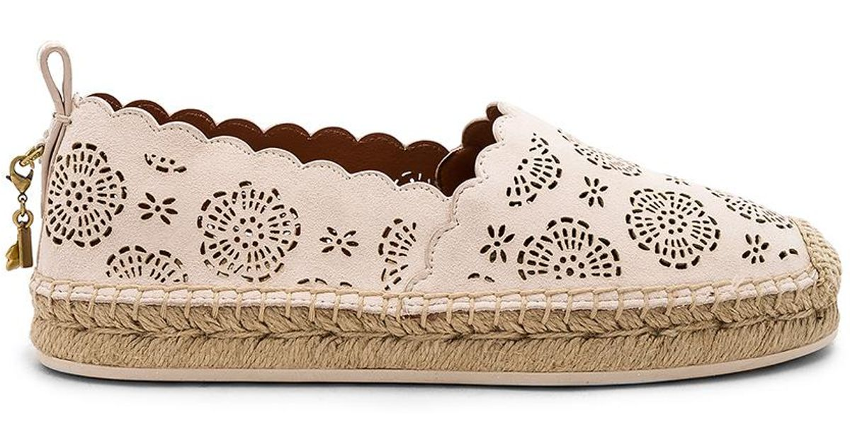 8f907b604 COACH Tea Rose Astor Espadrille - Lyst