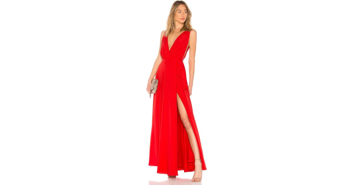 Lovers Friends Leah Gown In Red In Red Lyst