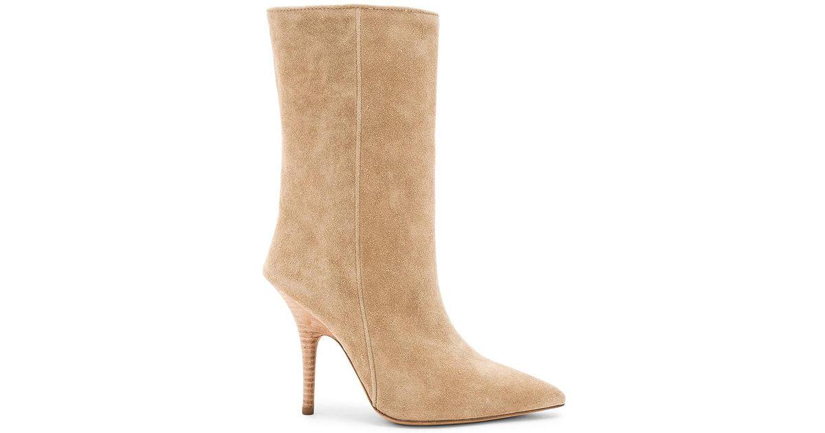 Yeezy Season 5 Suede Tubular Thigh High Boots in Neutrals. ifMv7VRTgf