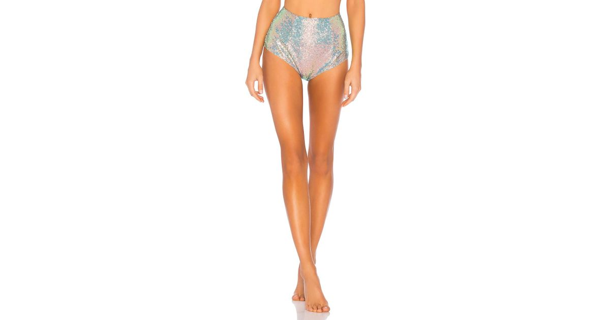 6f56567cfb Lyst - For Love   Lemons Cosmo Sequin High Waist Panty