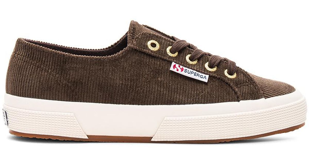 Superga 2750 Corduroy Sneaker in Brown