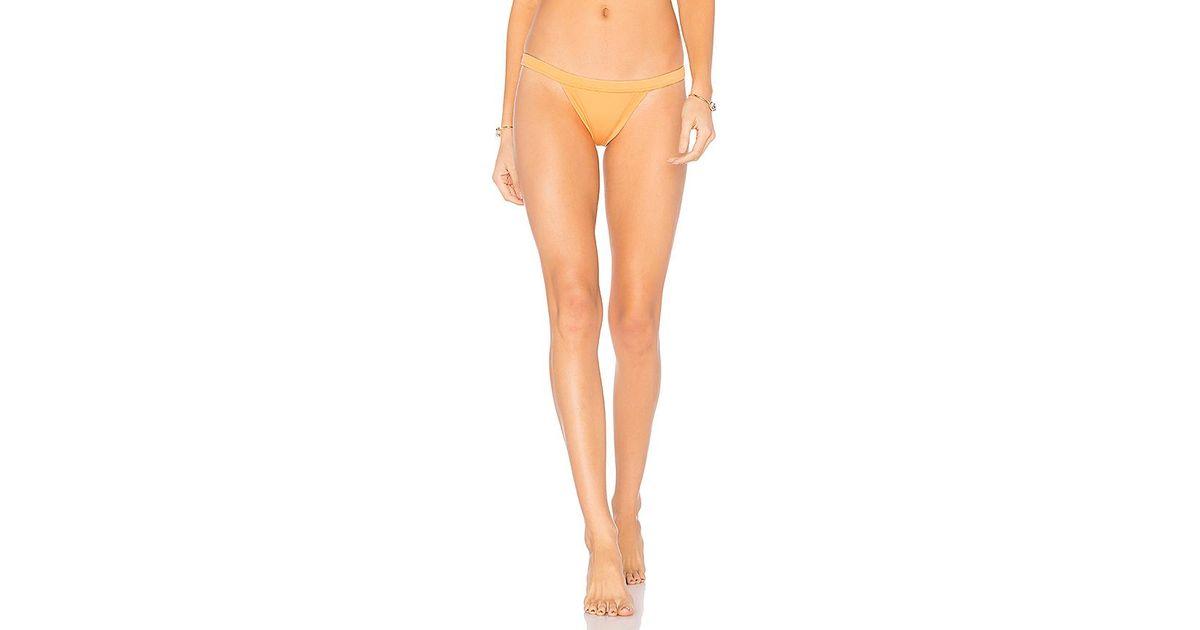 25dba7a674872 Lyst - Milly Italian Solid Cheeky Bikini Bottom In Orange