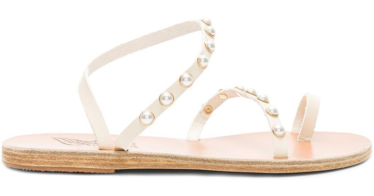 d2d832ae6 Lyst - Ancient Greek Sandals Leather Apli Pearls Sandals in White