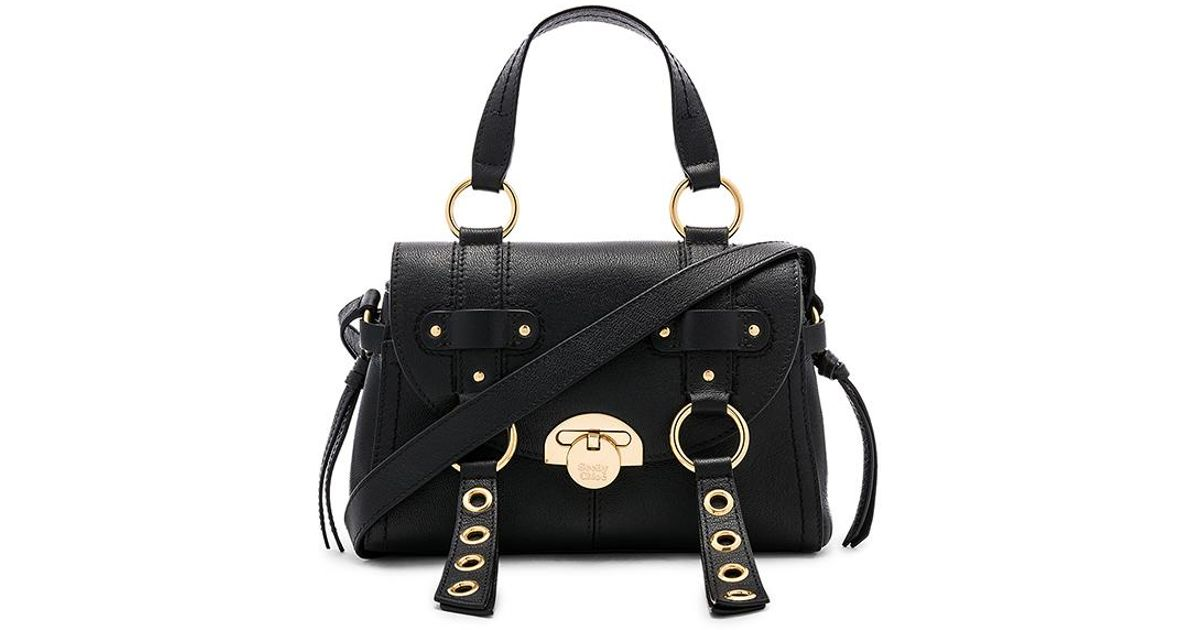 11e05604ae See By Chloé Women s Allen Leather Shoulder Bag - Motty Grey in Black - Lyst