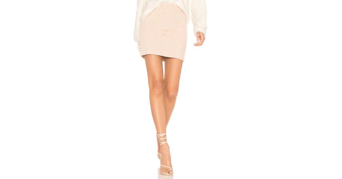 b24a794a4 Free People Modern Femme Denim Mini (stone) Skirt - Save 50% - Lyst