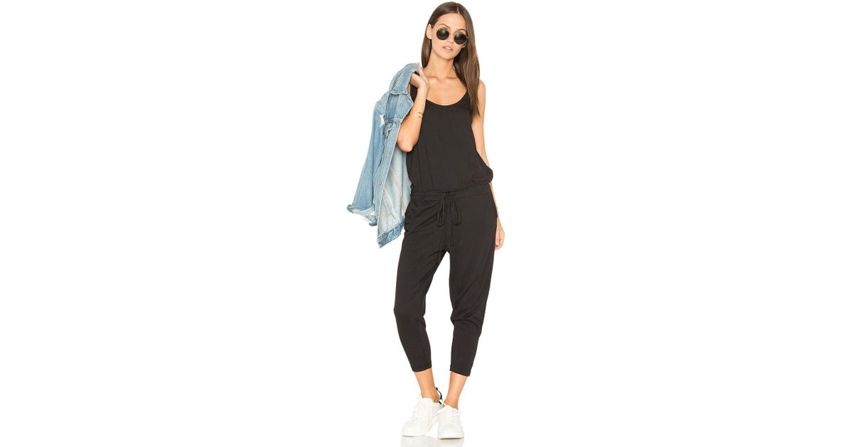 Lyst Bobi Supreme Jersey Sleeveless Jumpsuit In Black