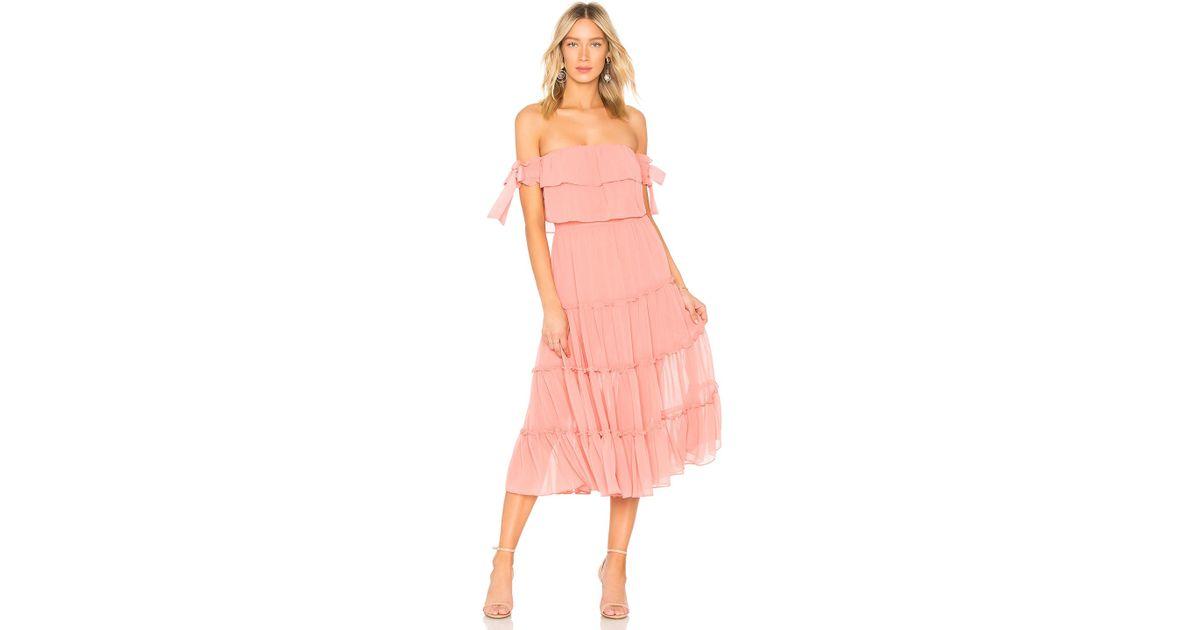 ca9618ef13 MISA Micaela Dress in Pink - Lyst